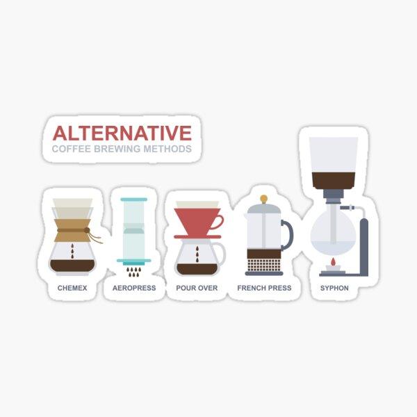 alternative brewing coffee methods Sticker