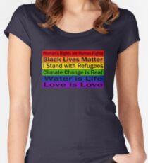 Political Protest – United we can make a change Women's Fitted Scoop T-Shirt