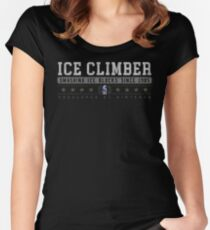 Ice Climber - Vintage - Black Women's Fitted Scoop T-Shirt