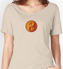 Red and Yellow Yin Yang Roses Women's Relaxed Fit T-Shirt