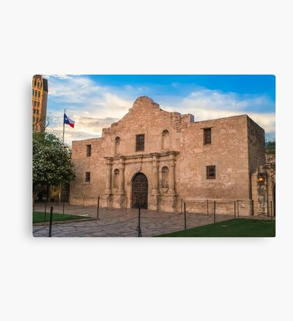 An Evening at the Alamo - San Antonio Texas Canvas Print