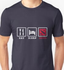 Eat sleep dota repeat Unisex T-Shirt