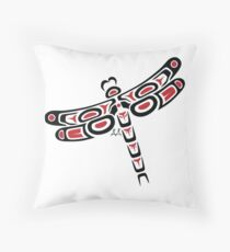 Cowenhikanapisis - Dragonfly Throw Pillow