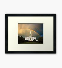 Jordan River Temple Under the Rainbow 20x24 Framed Print
