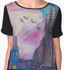Neverland (Watercolor Painting)  Women's Chiffon Top
