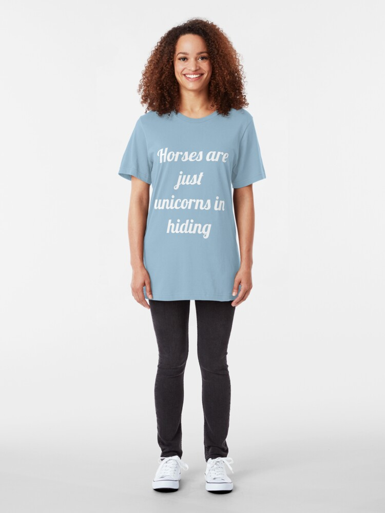 Alternate view of Unicorns in Hiding Slim Fit T-Shirt