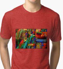 Deep Sea Quilt Tri-blend T-Shirt