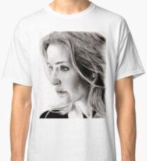 Gillian Anderson charcoal Classic T-Shirt