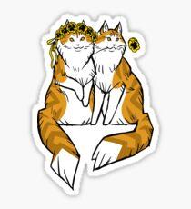 Pretty in Pansies Sticker