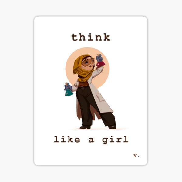 Think Like a Girl Sticker