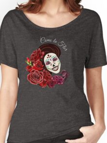 Como la Flor - Selena - Day of the Dead Sugar Skull Women's Relaxed Fit T-Shirt