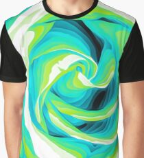 blue and green closeup rose texture background Graphic T-Shirt