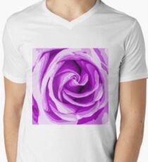 closeup purple rose texture background T-Shirt