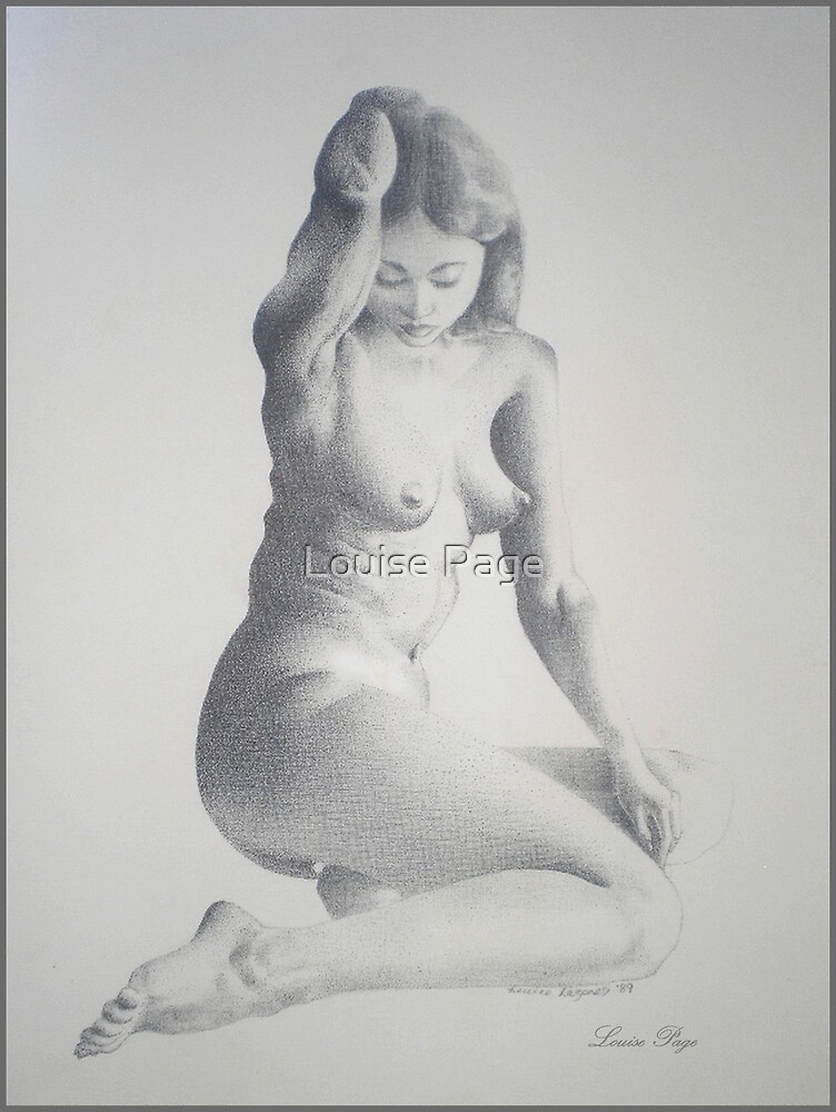 Female Nude - Pointilism by Louise Page