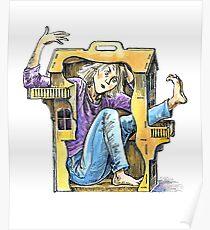 Girl inside a dollhouse Poster