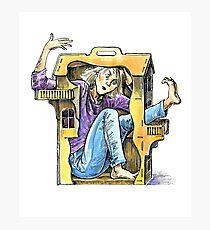 Girl inside a dollhouse Photographic Print