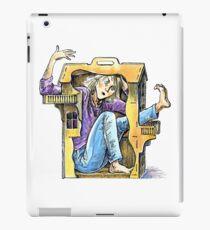 Girl inside a dollhouse iPad Case/Skin