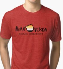 Bearovision Song Contest (black text) Tri-blend T-Shirt