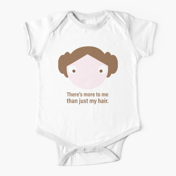 More Than Just My Hair Short Sleeve Baby One-Piece