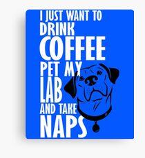 Pet Lab & Nap Canvas Print