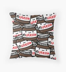 Cute Nutella Pattern! Throw Pillow