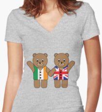 British Irish Friends Women's Fitted V-Neck T-Shirt