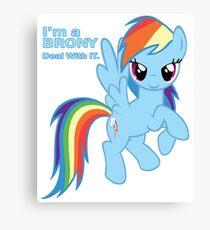 My Little Pony Brony Canvas Print