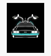 Delorean neon Photographic Print