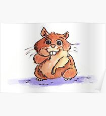 Adorable Hamster Poster