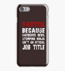 Because Hardcore Devil Stomping t-shirt iPhone Case/Skin