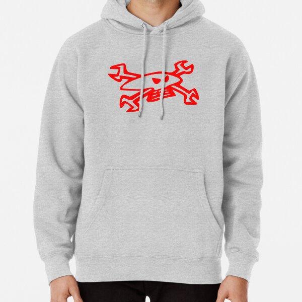 Logo Guy Martin Skull - Rouge Sweat à capuche épais