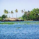 Church located on a coastal lagoon in Kerala, India by ashishagarwal74