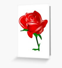 Red rose vector Greeting Card
