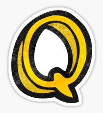 cartoon letter q Sticker