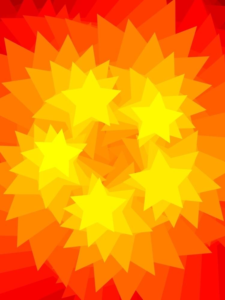 Five Golden Stars by iterograph