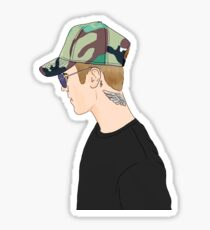 Justin Profile Drawing Sticker