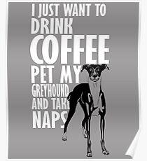 Greyhound & Nap  Poster