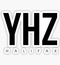 YHZ - Halifax Airport Code Sticker