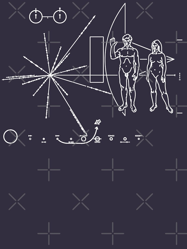 Pioneer Plaque TShirts Hoodies By Odibil Redbubble - Human plaque dot map us