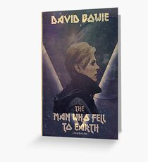 david bowie the man who fell to earth Greeting Card