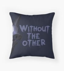Without the other Wolf Kindred (part) Throw Pillow