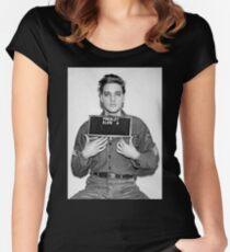 Elvis Mugshot Women's Fitted Scoop T-Shirt