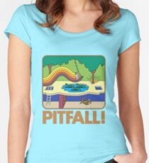 Pitfall! 2600 Box Women's Fitted Scoop T-Shirt