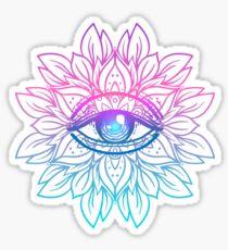 Pegatina Rainbow Eye Mandala