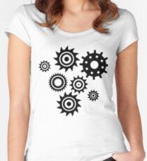 Gears pattern Women's Fitted Scoop T-Shirt
