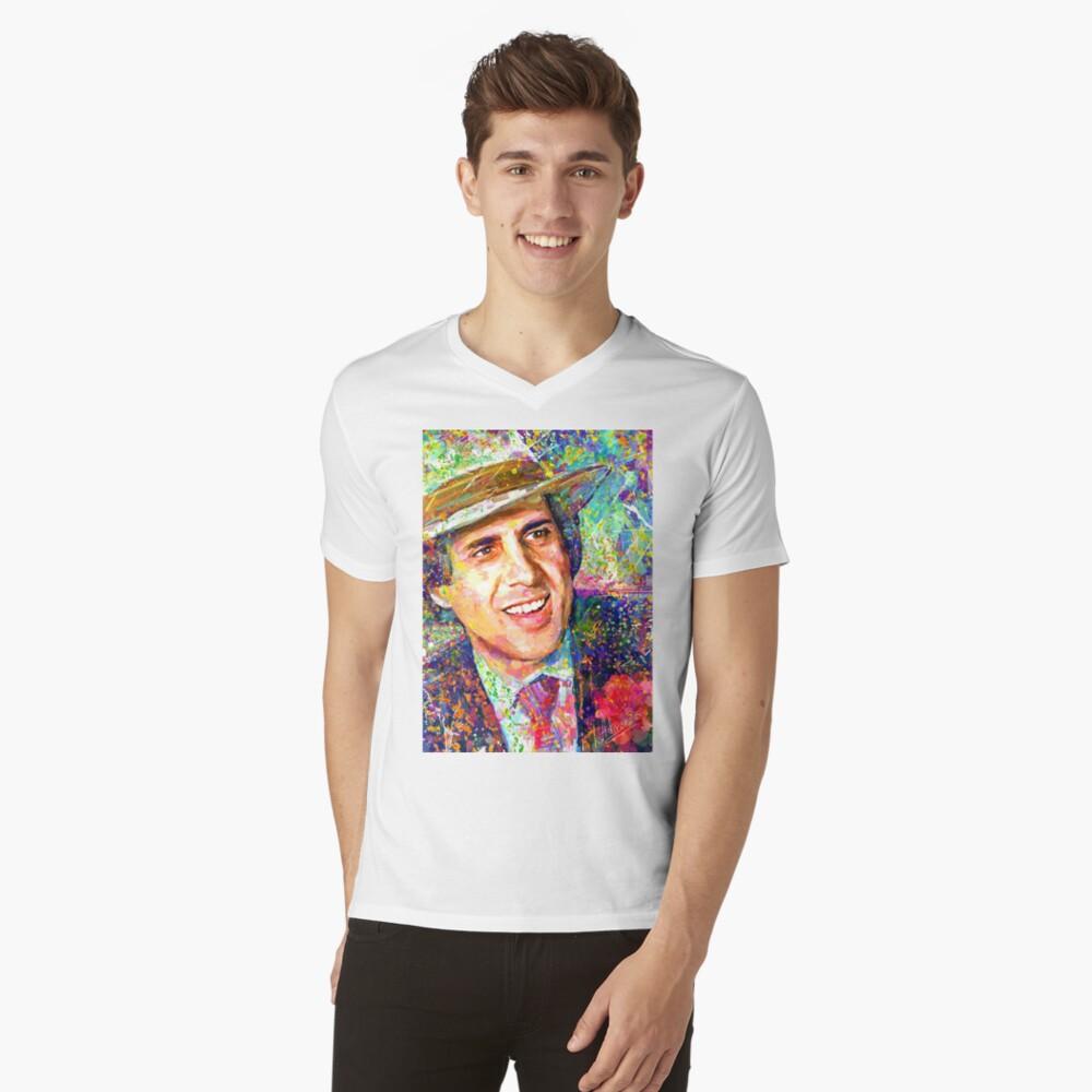 Adriano Celentano Traum T-Shirt mit V-Ausschnitt