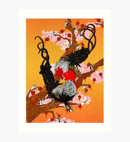 Year of the Fire Rooster Art Print