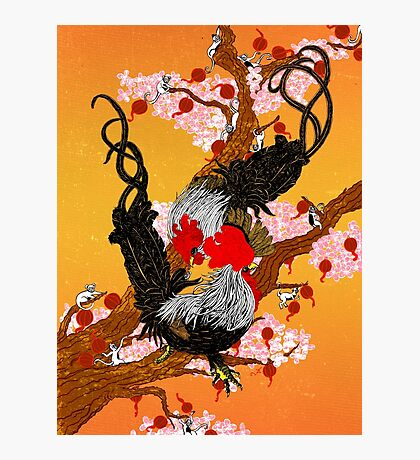 Year of the Fire Rooster Photographic Print