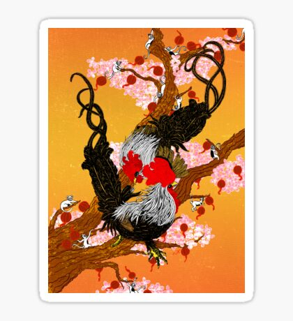 Year of the Fire Rooster Sticker