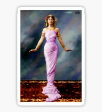 Colorized Mata Hari in her youth Sticker